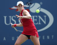 Professional tennis player Alize Cornet during third round singles match at US Open 2013 Stock Photo