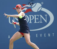 Professional tennis player Alize Cornet during third round singles match at US Open 2013 Stock Images