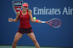 Professional tennis player Angelique Kerber of Germany in action during US Open 2015 third round match Royalty Free Stock Images
