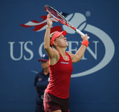 Professional tennis player Angelique Kerber of Germany in action during US Open 2015 Royalty Free Stock Photos