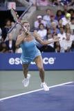 Professional tennis player Camila Giorgi during third round match at US Open 2013 against Caroline Wozniacki Stock Photography