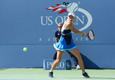 Professional tennis player Caroline Wozniacki during first round match at US Open 2013 Royalty Free Stock Photo