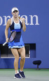 Professional tennis player Caroline Wozniacki during third round match at US Open 2013 against Camila Giorgi Stock Photo