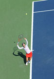 Professional tennis player Christina McHale during her first round match at US Open 2013 Royalty Free Stock Photos