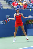 Professional tennis player Christina McHale during third round match at US Open 2013 Royalty Free Stock Images