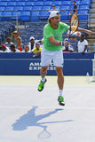 Professional tennis player David Ferrer practices for US Open 2014 Stock Image