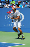 Professional tennis player David Ferrer from Spain practices for US Open 2013 Stock Photography