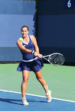 Professional tennis player Dominika Cibulkova from Slovakia during her first round match at US Open 2013 Royalty Free Stock Images