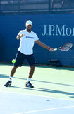Professional tennis player Donald Young practices for US Open 2013 at Billie Jean King National Tennis Center Royalty Free Stock Photography