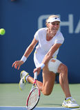 Professional tennis player  Ekaterina Makarova during fourth round match at US Open 2014 Royalty Free Stock Image