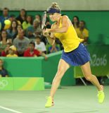 Professional tennis player Elina Svitolina of Ukraine in action during singles round three match of the Rio 2016 Olympic Games Stock Images