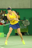 Professional tennis player Elina Svitolina of Ukraine in action during singles round three match of the Rio 2016 Olympic Games Royalty Free Stock Photography