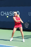 Professional tennis player Elina Svitolina from Ukraine during her first round match at US Open 2013 against  Dominika Cibulkova Royalty Free Stock Photo