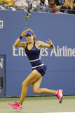 Professional tennis player Eugenie Bouchard during third round march at US Open 2014 Royalty Free Stock Images