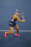 Professional tennis player Eugenie Bouchard during third round march at US Open 2014 Stock Photography