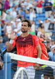 Professional tennis player Fabio Fognini of Italy after his match at US Open 2015 Royalty Free Stock Photography