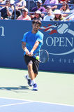 Professional tennis player Fabio Fognini from Italy practices for US Open 2013 Royalty Free Stock Image