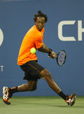 Professional tennis player Gael Monfils during second round match at US Open 2013 against John Isner Royalty Free Stock Image