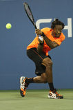 Professional tennis player Gael Monfils during second round match at US Open 2013 against John Isner Stock Image