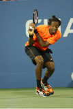 Professional tennis player Gael Monfils during second round match at US Open 2013 Royalty Free Stock Photography