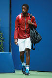 Professional tennis player Gael Monfis of France enters Arthur Ashe stadium before his US Open 2016 quarterfinal match. NEW YORK - SEPTEMBER 6, 2016 Royalty Free Stock Photos