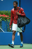 Professional tennis player Gael Monfis of France enters Arthur Ashe stadium before his US Open 2016 quarterfinal match. NEW YORK - SEPTEMBER 6, 2016 Stock Photography
