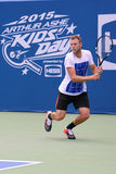 Professional tennis player Jack Sock of United States during practice for US Open 2015 Royalty Free Stock Photography