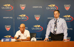 Professional tennis player James Blake announced his retirement  during press conference at US Open 2013 Stock Photo