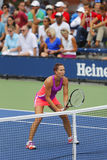 Professional tennis player Jelena Jankovic during second round doubles match at US Open 2014 Royalty Free Stock Photography