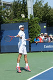 Professional tennis player  Jeremy Chardy from France during first round match at US Open 2013 Stock Photos