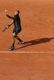 Professional tennis player Jo-Wilfried Tsonga of France during first round match at Roland Garros 2015 Stock Images