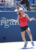Professional tennis player Johanna Konta of Great Britain in action during her third round US Open 2015 match Stock Photo