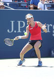 Professional tennis player Johanna Konta of Great Britain in action during her third round US Open 2015 match Royalty Free Stock Images
