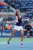 Professional tennis player Johanna Konta of Great Britain in action during her US Open 2016 round four match Stock Photo