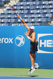 Professional tennis player John Isner of United States practices for US Open 2015 Royalty Free Stock Photos