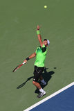 Professional tennis player  Juan Monaco from Argentina during US Open 2014 first round match Stock Images