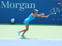 Professional tennis player Julia Goerges during first round match at US Open 2013 Stock Photos