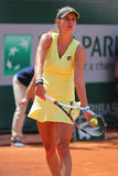 Professional tennis player Julia Goerges of Germany during her match at Roland Garros 2015 Stock Image