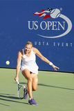 Professional tennis player Kaia Kanepi from Estonia during second round match at US Open 2014. NEW YORK - AUGUST 28 Professional tennis player Kaia Kanepi from Stock Image