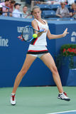 Professional tennis player Karolina Pliskova of Czech Republic in action during her round four match at US Open 2016 Stock Image