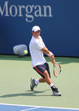 Professional tennis player Kei Nishikori from Japan during US Open 2014 match. AUGUST 26, 2014: Professional tennis player Kei Nishikori from Japan during US Royalty Free Stock Image