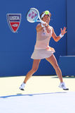 Professional tennis player Kimiko Date-Krumm  during first round match at US Open 2014 Stock Image