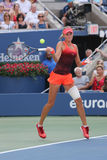 Professional tennis player Kristina Mladenovic of France in action during her US Open 2015 match Stock Photo