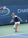 Professional tennis player Lesia Tsurenko from Ukraine during US Open 2013 match Stock Image