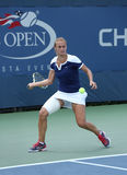 Professional tennis player Lesia Tsurenko from Ukraine during US Open 2013 match Royalty Free Stock Photography