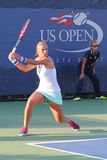 Professional tennis player Lesia Tsurenko from Ukraine during US Open 2014 qualifying match Royalty Free Stock Images