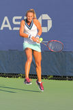 Professional tennis player Lesia Tsurenko from Ukraine during US Open 2014 qualifying match. NEW YORK - AUGUST 19, 2014: Professional tennis player Lesia Royalty Free Stock Images