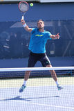 Professional tennis player Marin Cilic practices for US Open 2014 at Billie Jean King National Tennis Center Stock Images
