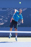 Professional tennis player Marin Cilic practices for US Open 2014 Royalty Free Stock Images