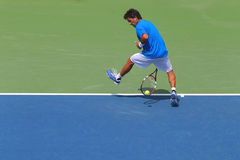 Professional tennis player Massimo Gonzales using Tweener during second round match at US Open 2014 Royalty Free Stock Photo